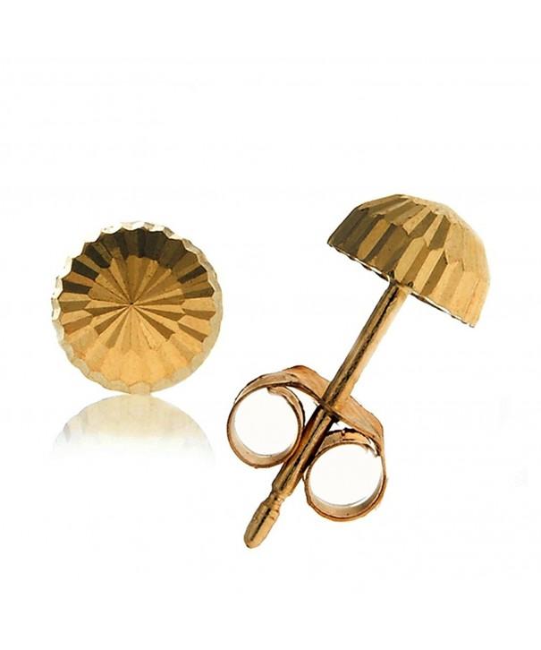 JewelStop Real Yellow Diamond cut Earrings