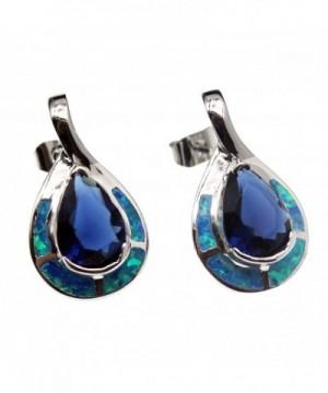 Teardrop Sterling Earrings Sapphire Jewelry