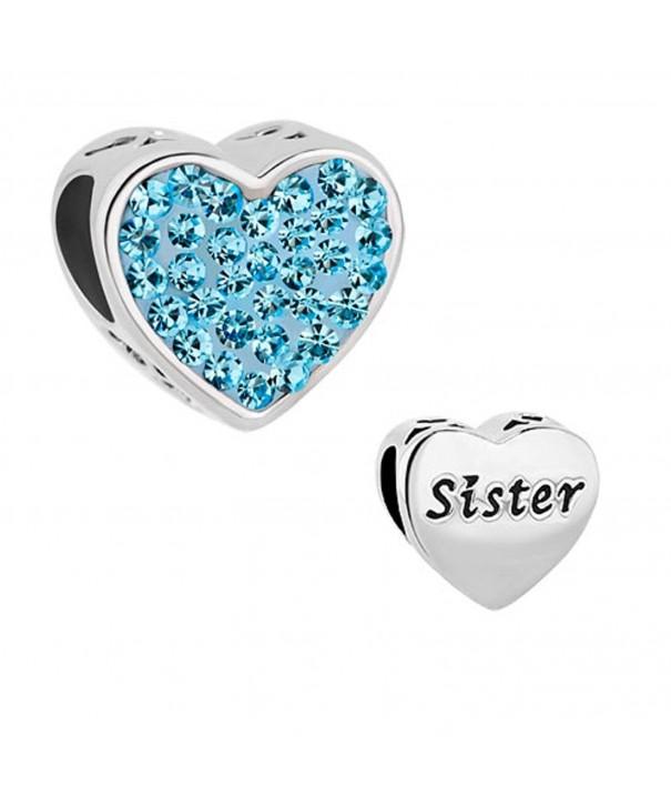 DemiJewelry Heart Sister Charms Bracelets