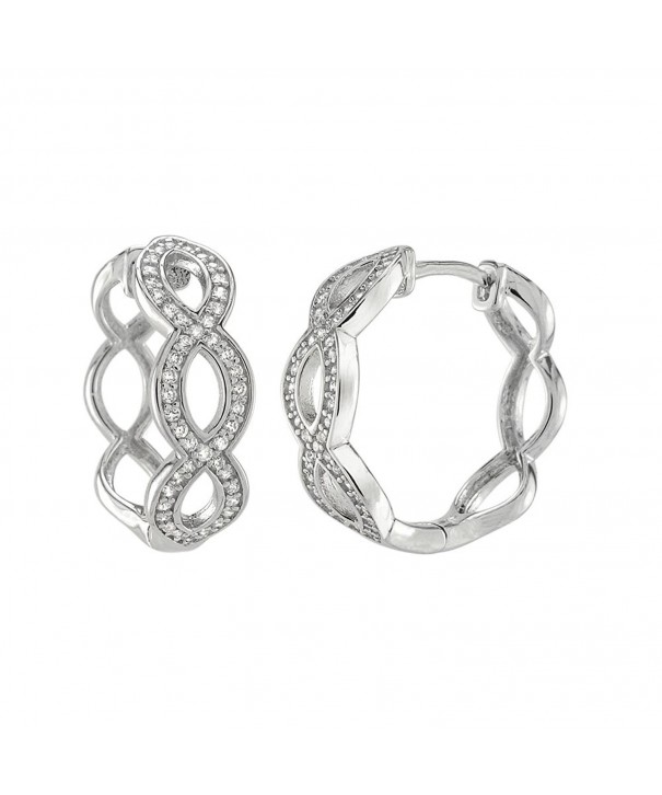 Infinity Hoops Huggies Sterling Silver