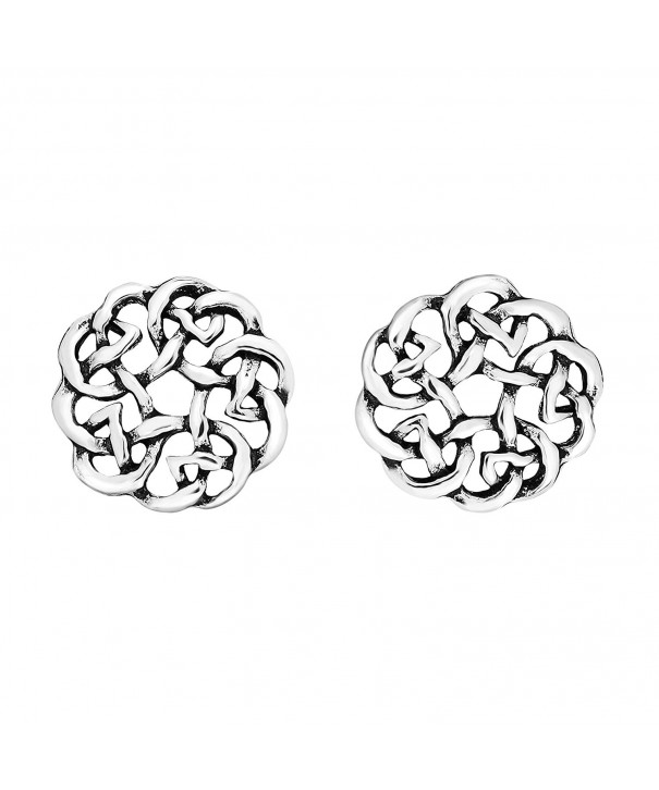 Continuity Celtic Sterling Silver Earrings