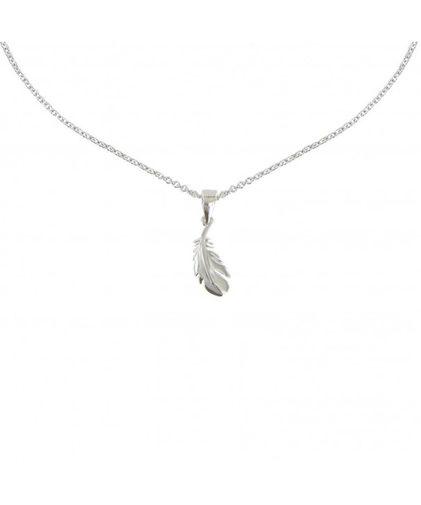 Poulettes Jewels Necklace RhodiumBird Feather