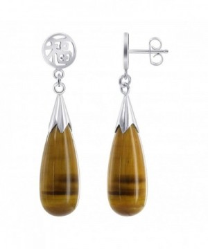 Gem Avenue Teardrop Natural Earrings