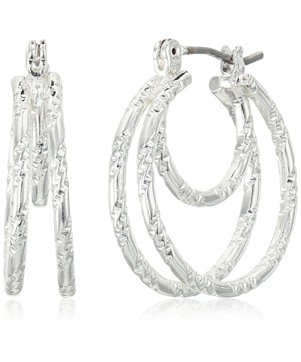 Napier Attraction Silver Tone Petite Earrings