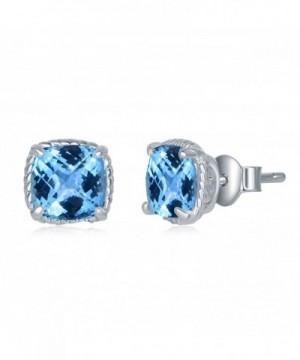 Sterling Genuine Fastened Birthstone Earrings