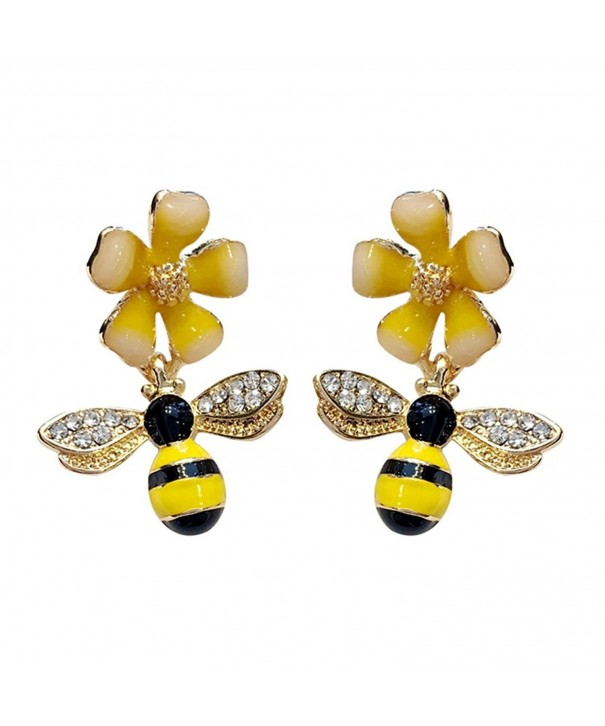 CHUYUN Crystal Bumblebee HoneyBee Earrings
