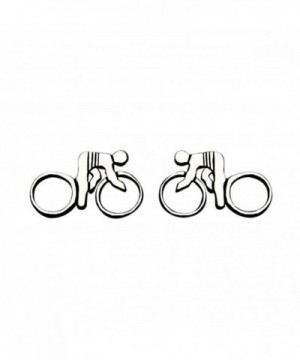 Sterling Silver Bicycle Rider Earrings