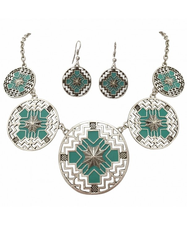 Cutout Southwestern Boutique Necklace Earrings