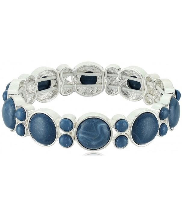 Napier Silver Tone Blue Stretch Bracelet