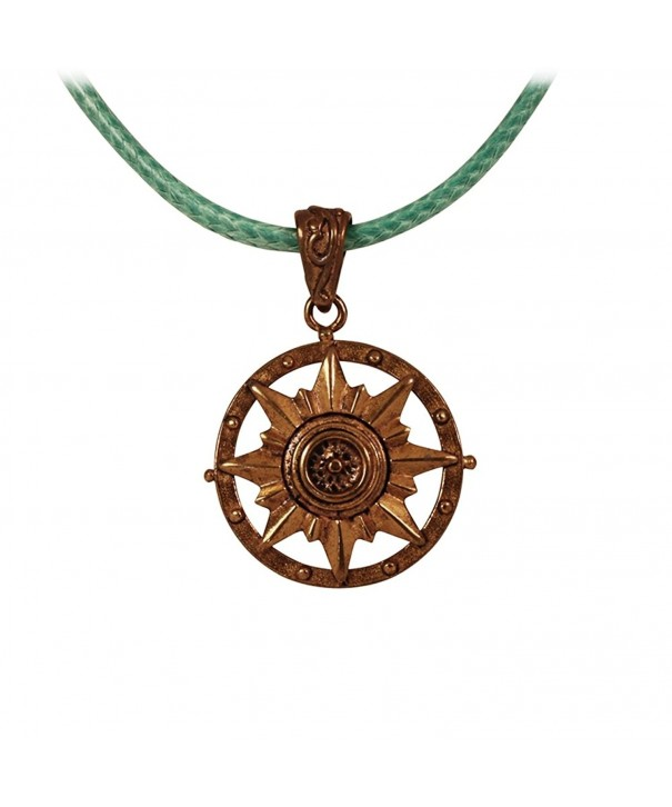 Nautical Compass Pendant Adjustable Necklace