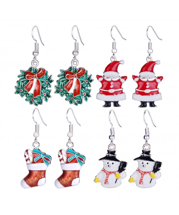 Zhenhui Christmas Earrings Stockings Thanksgiving