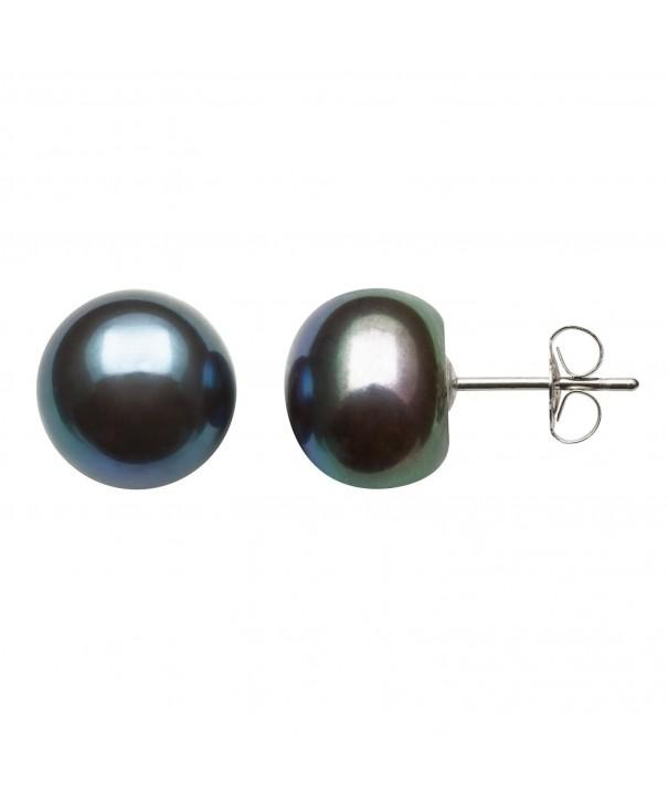 White 8 0 8 5mm Cultured Freshwater Earrings