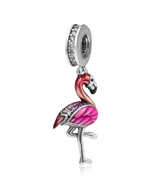 Sterling Silver Pendant Bracelets Flamingo