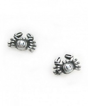 Sterling Silver Crab Crabby Earrings
