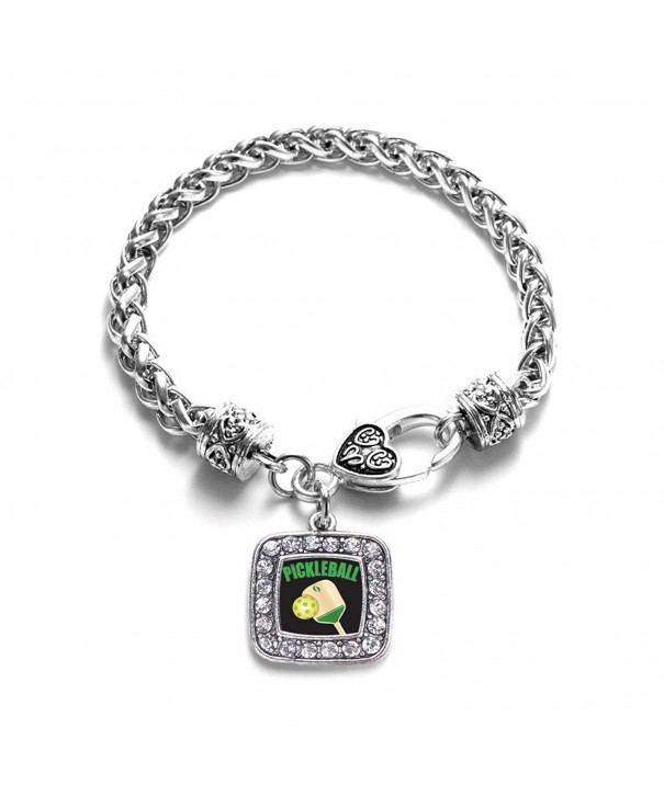 Pickleball Classic Braided Silver Bracelet