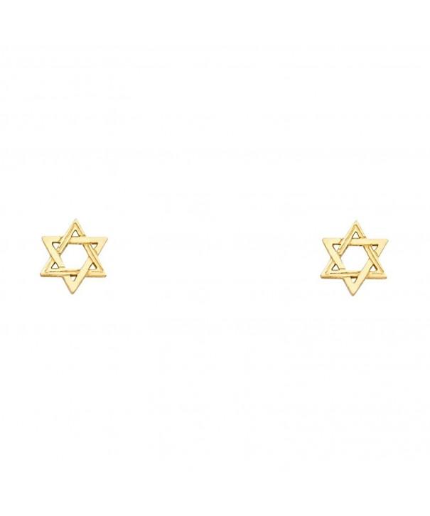Yellow Jewish Earrings David Diamond