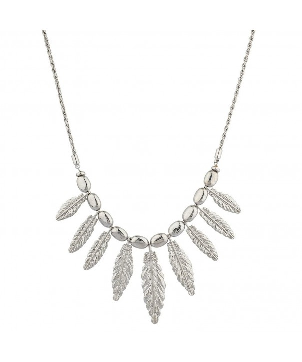 Lux Accessories Silvertone Statement Necklace