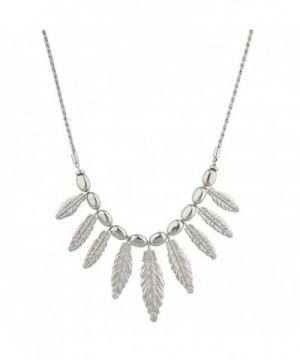 Lux Accessories Silvertone Statement Necklace