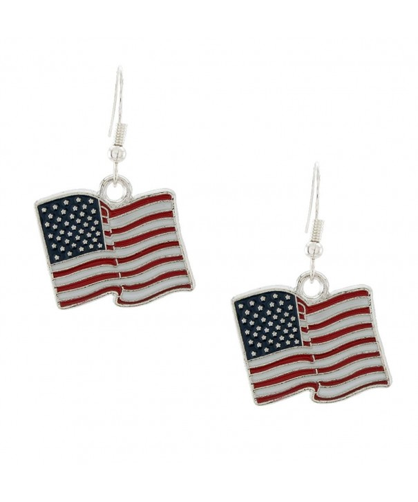 DaisyJewel U S A Flag Dangle Earrings