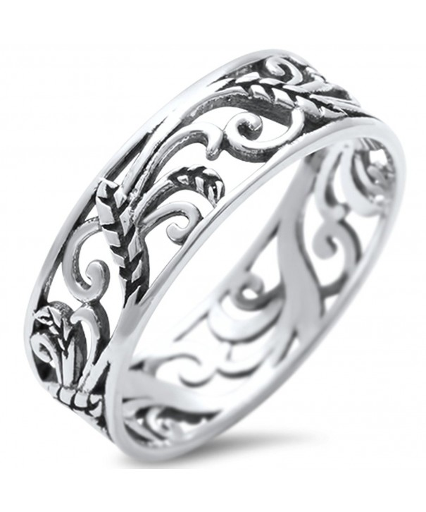 Leaves Celtic Design Fashion Sterling