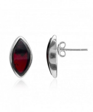 Cherry Sterling Silver Marquise Earrings