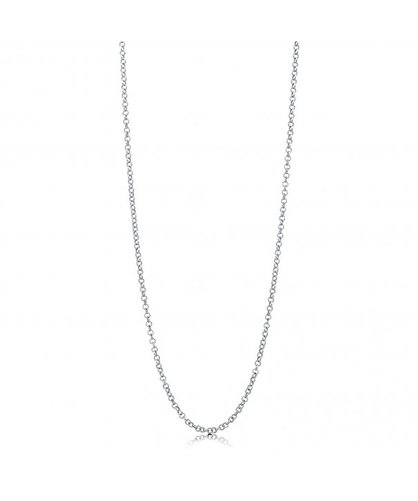 BERRICLE Italian Rhodium Sterling Necklace