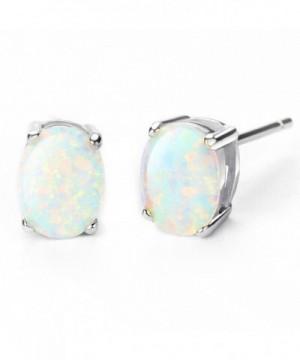 Sterling Earrings Birthstone Created Gemstone