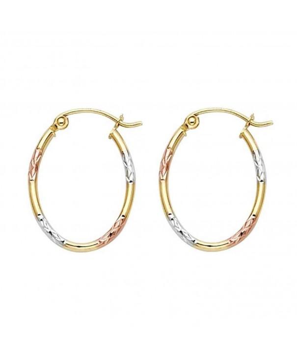 Womens Tricolor 1 5mm Diamond Earrings