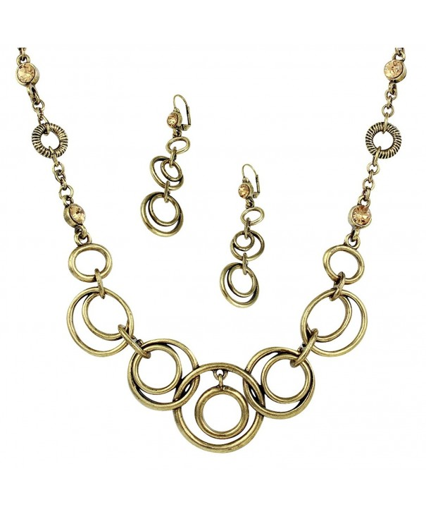 Antique Interlocking Choker Necklace Earrings