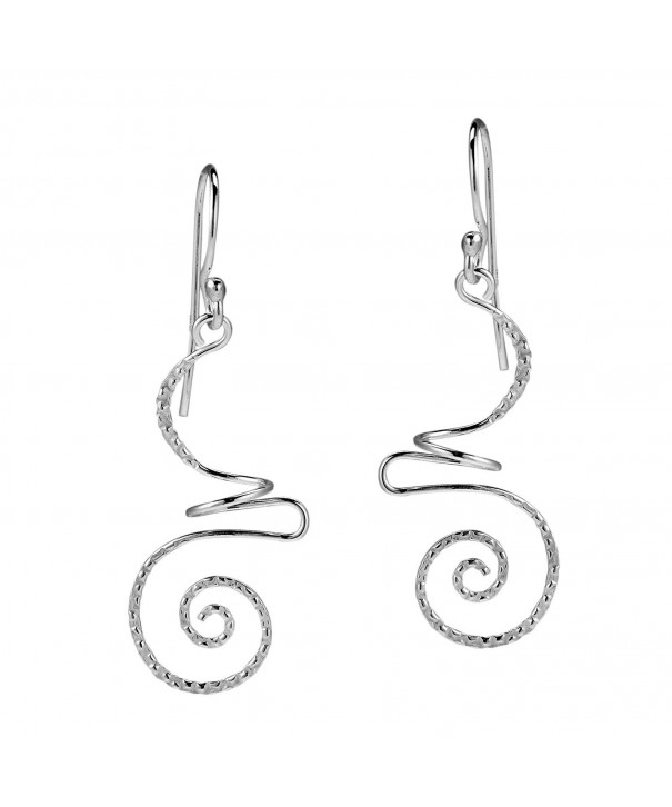 Intricate Abstract Swirls Sterling Earrings