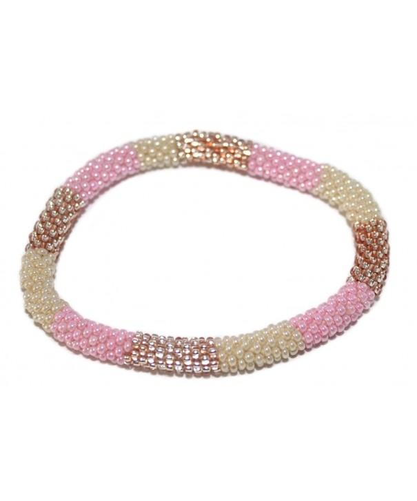 Crochet Glass Bracelet Nepal SB279