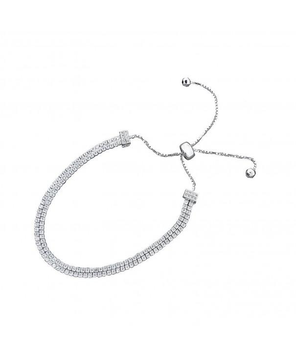 Sliding Tennis Bracelet Extend Inches