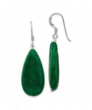 Sterling Silver Green Gemstone Earrings