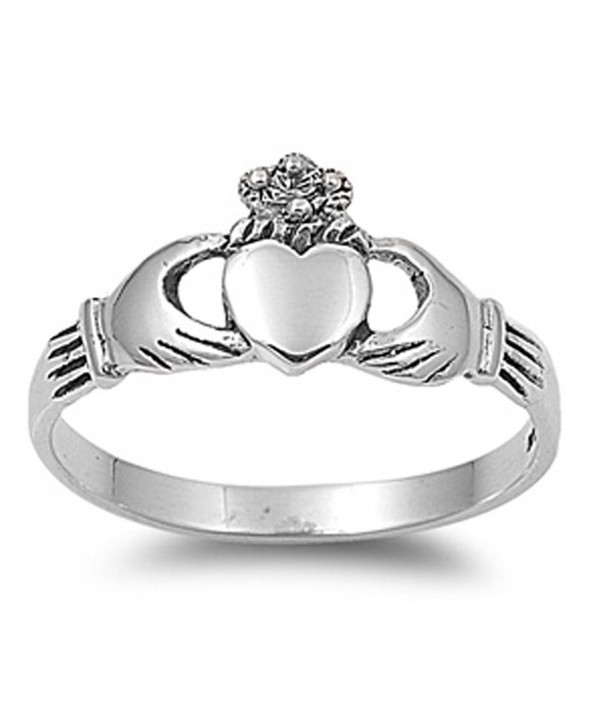 Sterling Silver Womens Claddagh RNG12713 8