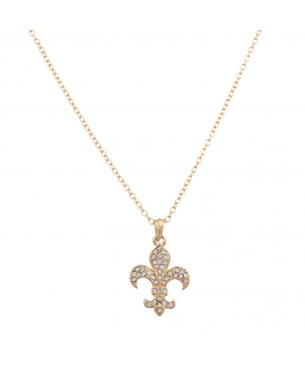 Lux Accessories Saints Pendant Necklace