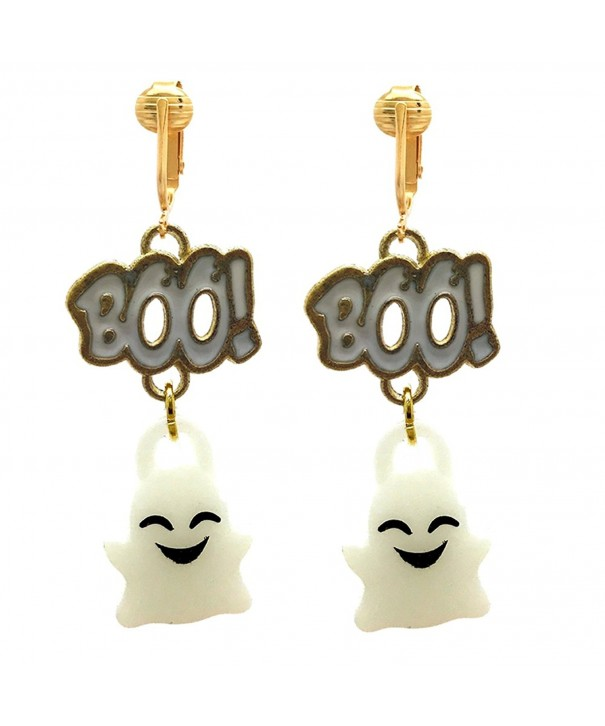 Halloween Clip Earrings Girls Ghosts Pumpkins