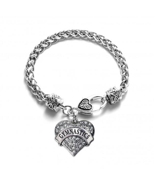 Gymnastics Bracelet Silver Lobster Crystal
