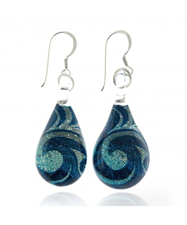 Sterling Silver Murano Glitter Earrings