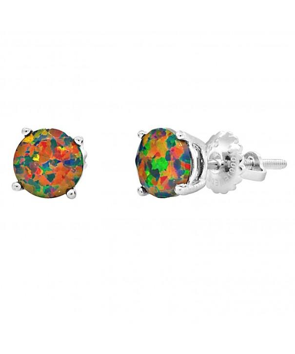 Trustmark Sterling Created Faceted Earrings