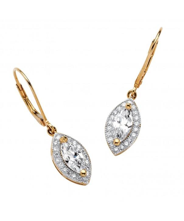 Marquise Cut White Zirconia Silver Earrings