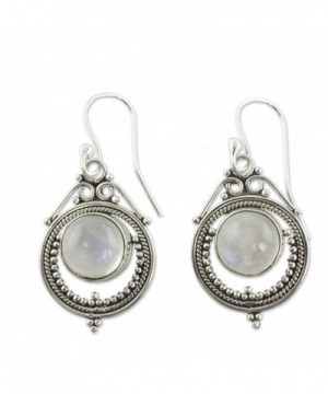 NOVICA Moonstone Rainbow Sterling Earrings