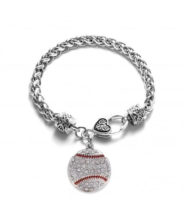 Inspired Silver Baseball Lobster Bracelet