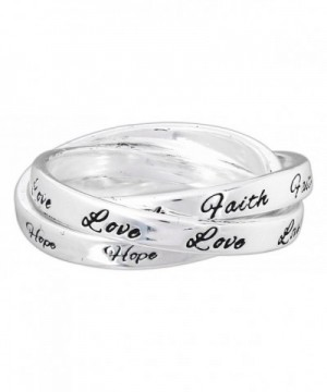 Dicksons Silver Plated Triple Band Faith