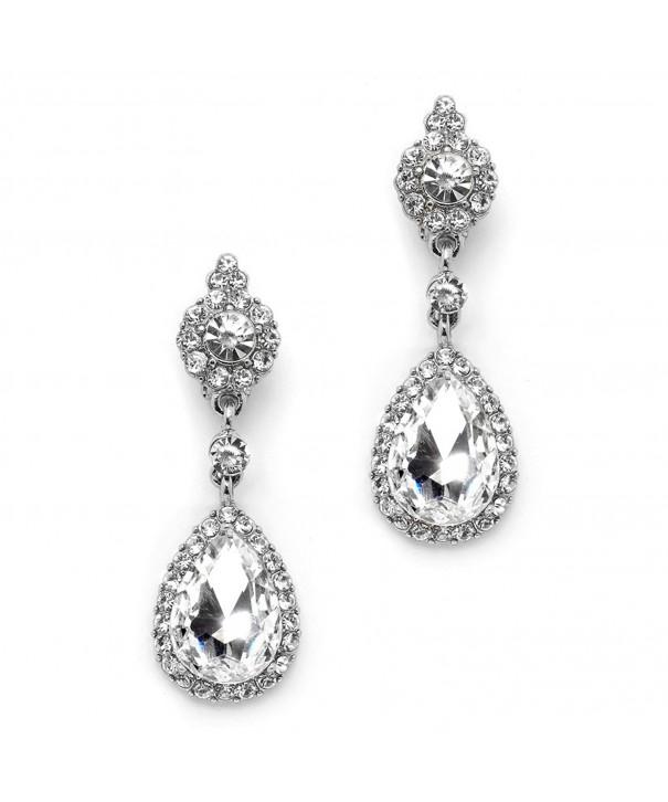 Mariell Teardrop Chandelier Earrings Bridesmaids