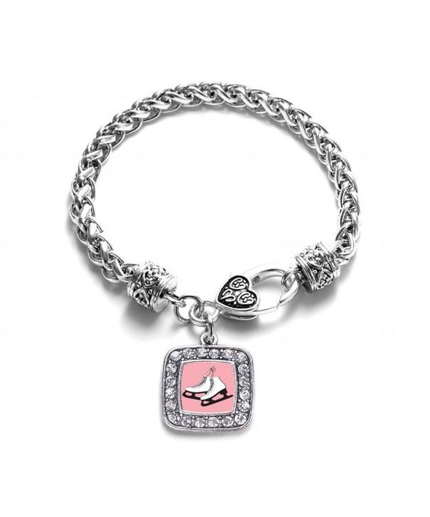Skating Classic Silver Crystal Bracelet