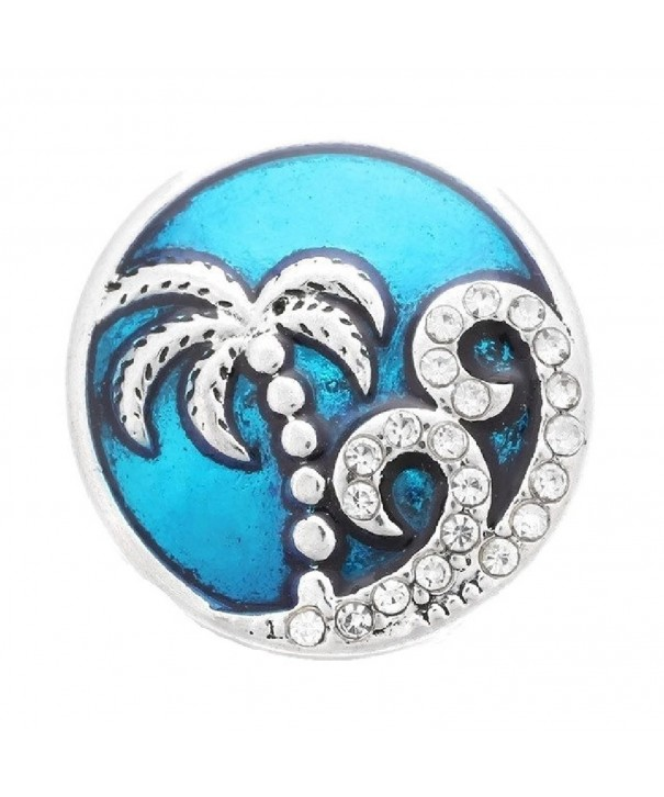 Interchangeable Jewelry Charm Enamel Ocean