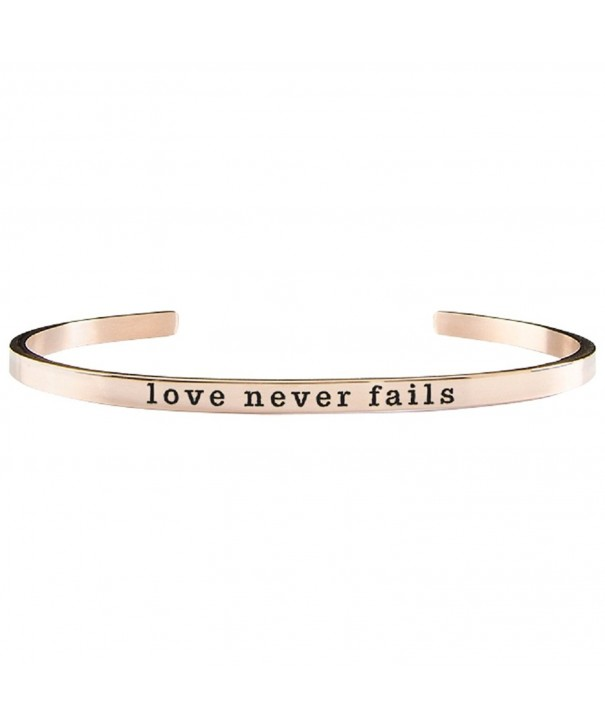 Never Fails Adjustable Inspirational Bracelet