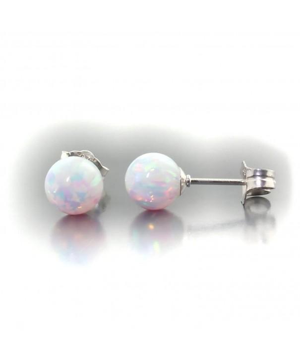 Trustmark White Created Earrings Lorraine