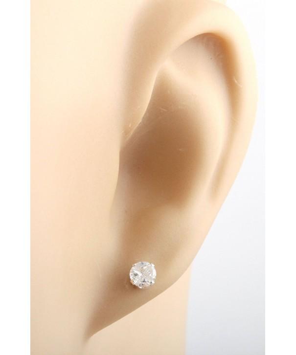 Sterling Silver Zirconium Earrings I 104