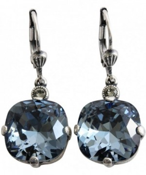 Catherine Popesco Silvertone Earrings Midnight